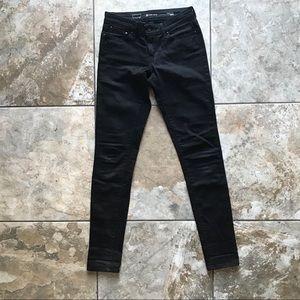Levi's sexy jet black skinny jeans 26x32 tall